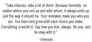 quotes about chances