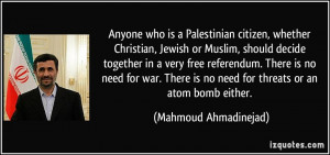Anyone who is a Palestinian citizen, whether Christian, Jewish or ...
