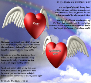in heaven valentines day poems for mothers day in heaven poems 1000 ...