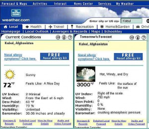 AFGHANISTAN WEATHER FORECAST