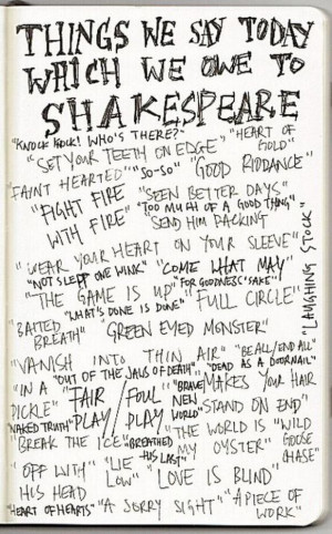 Shakespeare quotes we still use today