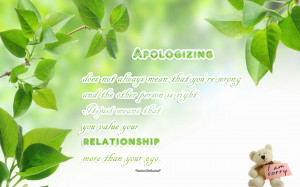 Apology Quotes Wallpaper With Best Relationship Advice:
