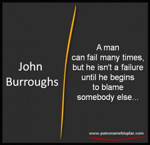 QUOTES ABOUT FAILURE (John Burroughs)