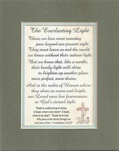 ... -LIGHT-Sympathy-DEATH-Loss-BIBLE-Heaven-VICTORY-verses-poems-plaques
