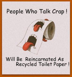 People who talk crap