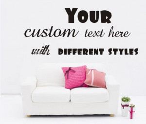 Large Custom Vinyl Wall Quote Decal Sticker,Lettering Words Art Quotes ...