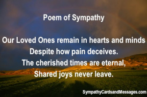 Sympathy Poems with full rainbow over meadow, mountains on sunset ...