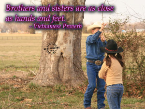 brothers and sisters are as close as hands and feet vietnamese proverb