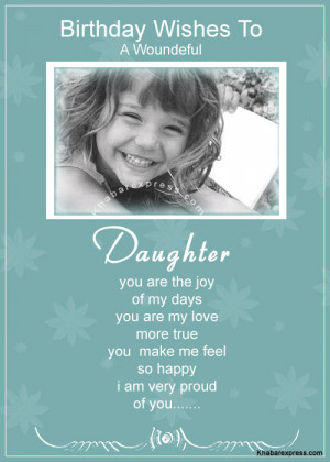 Birthday wishes for daughter, birthday wish for daughter