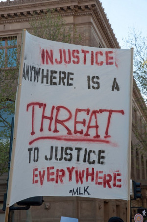 ... Is A Threat To Justice Everywhere - Justice Quote Share On Orkut