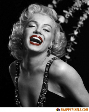 Marilyn Monroe Black And White Red Lips Quotes