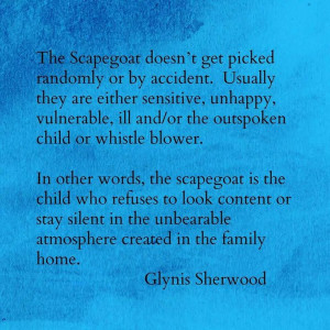 the scapegoat in a dysfunctional family