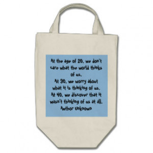 Aging Quotes Bags