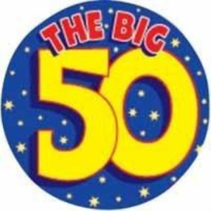 The Big 50 Birthday Badge
