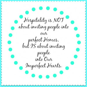 Hospitality: A Life that Says Welcome