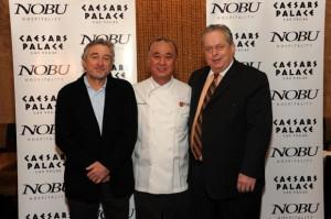 Actor Robert De Niro, chef Nobu Matsuhisa and Tom Jenkin, President ...