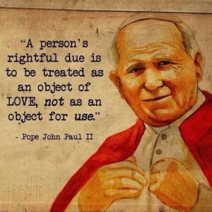 Pope John-Paul II quote