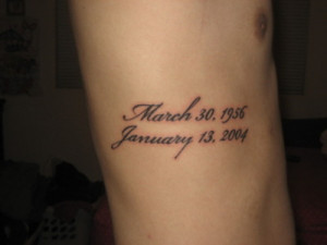 Tattoo..Obvioulsy not mine…But same idea…in memory of my parents ...