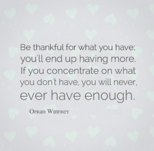 appreciation, contentment, famous people, life, oprah, oprah winfrey ...