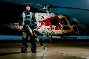 Travis Rice filming in Revelstoke for Art of Flight
