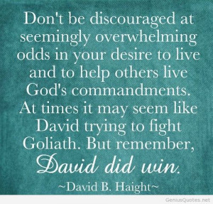 Feeling Discouraged Quotes Don't be discouraged at