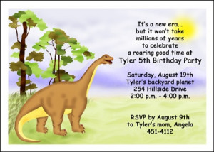 Dinosaurs Boy Birthday Party Invites areBecoming Very Popular!