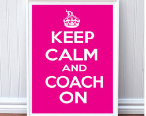 Cute Gymnastics Coach Poster- Keep Calm and Coach On Pink Gymnastics ...