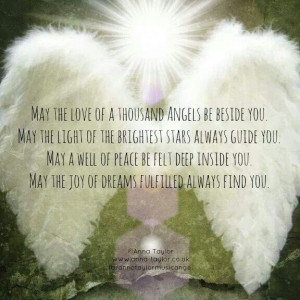 ... out there.. Here is an Angel blessing for Each & Everyone of Us