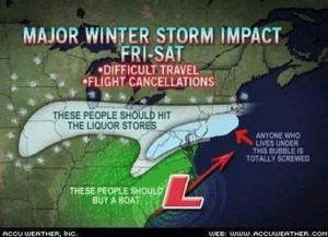 Funny (And Honest) Weather Map (PICTURE)