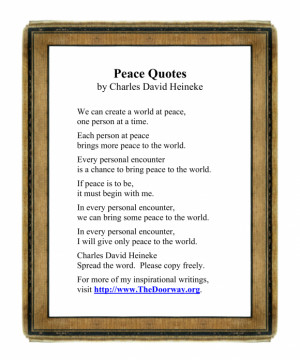 Peace Quotes For You: Peace Quotes Of The Day In Simple White Paper ...