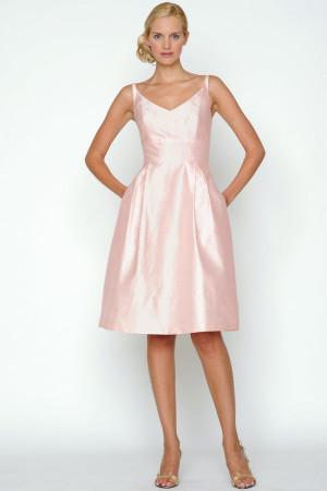 light pink sweetheart short chiffon bridesmaid dress jpg