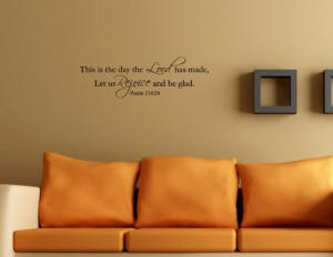 ... AND BE GLAD Vinyl Wall Decals Quotes Lettering Sayings Art Words