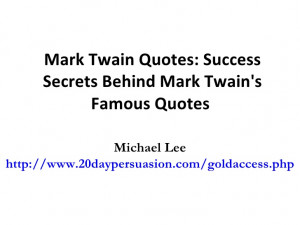 Famous essay by mark twain