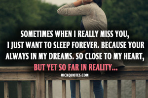 RICK Quotes - Love Quotes: I Miss You Quotes | Sleep Forever