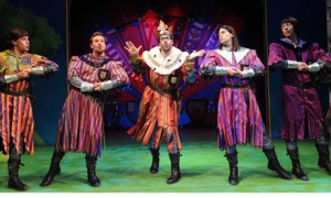 Tawdry lines ... Todd Carty and Marcus Brigstocke in Spamalot ...