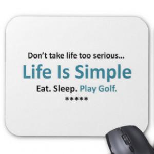 Eat, Sleep, Play Golf Mouse Pad