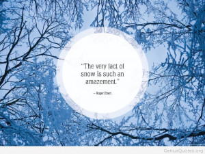 Snow and winter quote hd