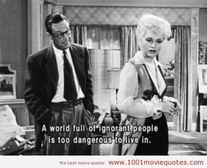 Born Yesterday (1950) - movie quote
