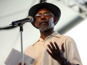 Poet Linton Kwesi Johnson...