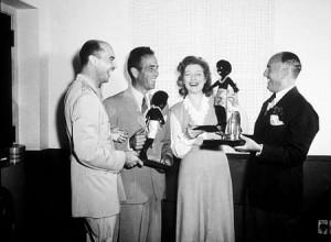 ... Bogart, Greer Garson, and Jack Warner at NBC Radio, circa 1940