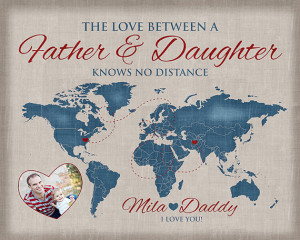 Quote, Daddy Gift - Personalized Art, Care Package, Fathers Day ...