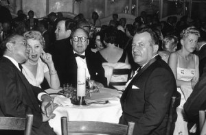 Ciro's Nightclub Mary Livingston, Jack Benny, Herman Hover c. 1950