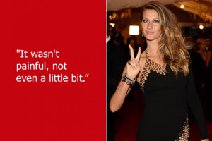 ... Gisele Bundchen is lying — or was heavily medicated or entirely