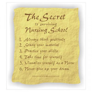 CafePress > Wall Art > Posters > The Secret to Nursing School Poster