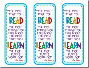 Dr. Seuss Bookmarks!