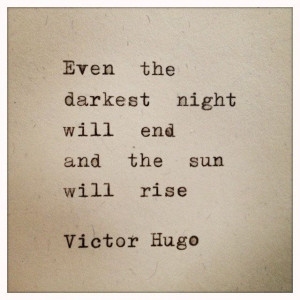 ... again. Victor Hugo Quote Typed on Typewriter and Framed by farmnflea