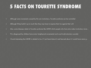 FACTS ON TOURETTE SYNDROME