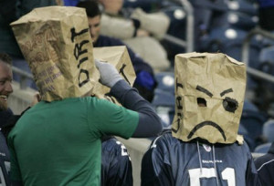 Two Seahawks fans display their unhappiness — or perhaps their ...