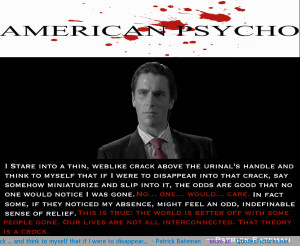 ... Patrick Bateman motivational inspirational love life quotes sayings