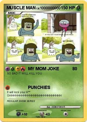 pokemon muscle man 9 my mom joke my pokemon card